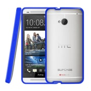 SUPCase Premium Hybrid Protective Case For HTC One M7 Smartphone, Clear/Blue