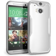 SUPCase Unicorn Beetle Premium Hybrid Protective Case For HTC One M8, White/Gray