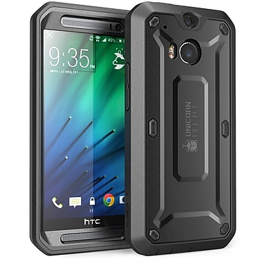SUPCase Unicorn Beetle PRO Series Full body Hybrid Protective Case For HTC One M8, Black/Black