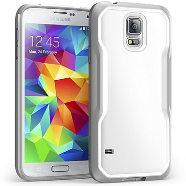 SUPCase Unicorn Beetle Premium Hybrid Protective Case For Samsung Galaxy S5, White/Gray