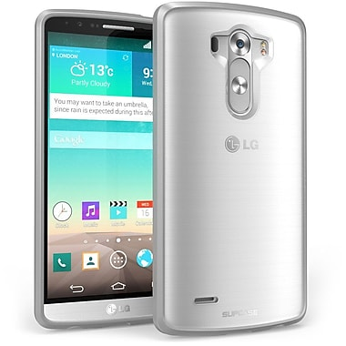 SUPCase Unicorn Beetle Premium Hybrid Protective Case For LG G3, Clear/Gray