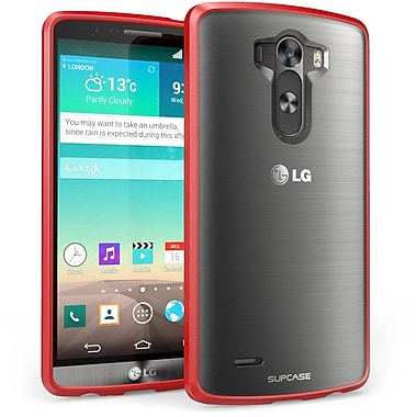 SUPCase Unicorn Beetle Premium Hybrid Protective Case For LG G3, Frost Clear/Red