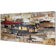 Hobbitholeco. Collage Abstract by Tina O. Painting on Wrapped Canvas