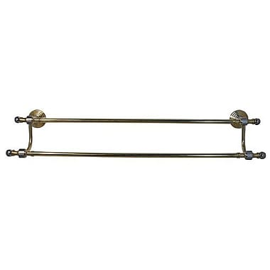 Allied Brass Retro Wave Double 24'' Wall Mounted Towel Bar; Polished Chrome