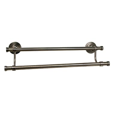 Allied Brass Washington Square Double Wall Mounted Towel Bar; Oil Rubbed Bronze