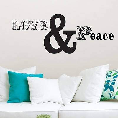 Brewster Home Fashions WallPops 10 Piece Love and Peace Small Wall Decal Set