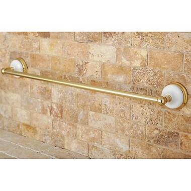 Kingston Brass Victoria 24'' Wall Mounted Towel Bar; Polished Brass