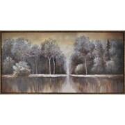 Hobbitholeco. Calm Lake by Tina O. Framed Painting