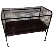 A&E Cage Co. Rabbit & Guinea Pig Cage; Black