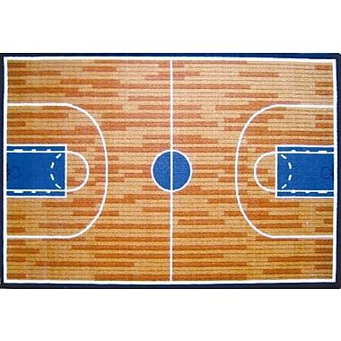 Fun Rugs Fun Time Basketball Court Sports Area Rug; 3'3'' x 4'10''
