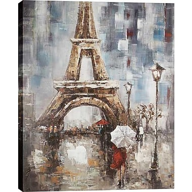 Hobbitholeco. Eiffel Tower by Luna Painting on Wrapped Canvas