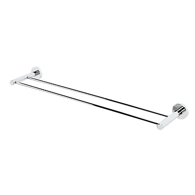 Alno Contemporary I Double 26'' Wall Mounted Towel Bar; Polished Chrome