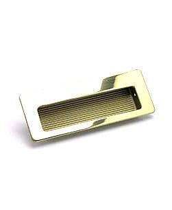 Berenson Zurich Recessed Pull; Gold Plated