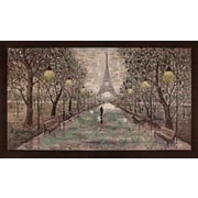 Hobbitholeco. Walk To Eiffel Tower by Anastasia C. Framed Painting