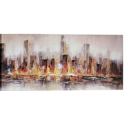 Hobbitholeco. Warm City Shore by Luna Painting on Wrapped Canvas