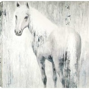 Hobbitholeco. Horse In Blue by Anastasia C. Painting on Wrapped Canvas