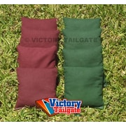 Victory Tailgate Weather Resistant Cornhole Bags (Set of 4); Burgundy and Hunter Green