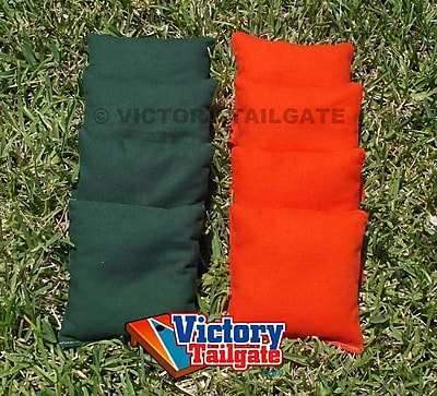 Victory Tailgate Standard Bags; Orange and Hunter Green WYF078276997854