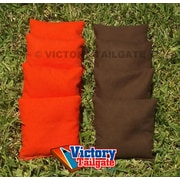 Victory Tailgate Weather Resistant Cornhole Bags (Set of 4); Orange and Brown