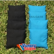 Victory Tailgate Standard Bags; Black and Turquoise