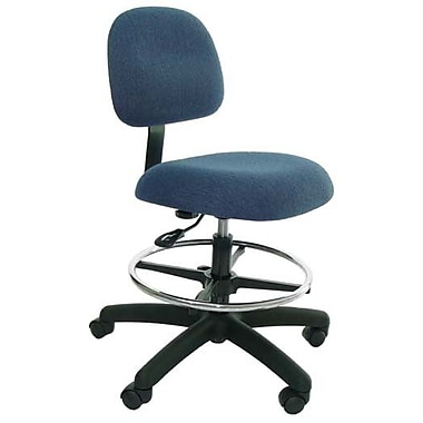 Industrial Seating Low-Back Drafting Chair; Blue