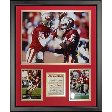 Legends Never Die NFL San Francisco 49ers - Montana-Rice Framed Memorabili
