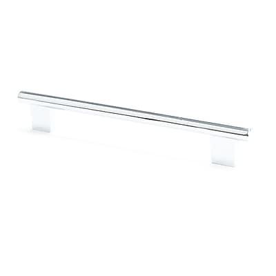 Berenson Euroline 7 5/9'' Center Bar Pull; Chrome