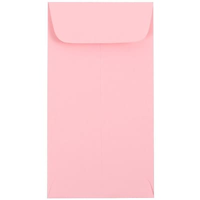 JAM Paper® #7 Coin Envelopes, 6.5 x 3.5, Baby Pink, 25/pack (1526773)