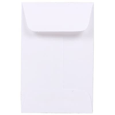 JAM Paper® #1 Coin Envelopes, 2.25 x 3.5, White, 100/pack (122326658)