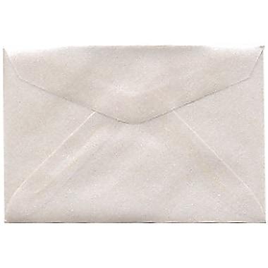 JAM PaperMD – Enveloppes, argenté translucide, 3drug, 2,31 x 3,62 po, 100/paquet