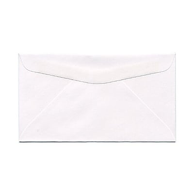 JAM Paper® #6 3/4 Commercial Envelopes, 3 5/8 x 6 1/2, White, 25/pack (1633983)