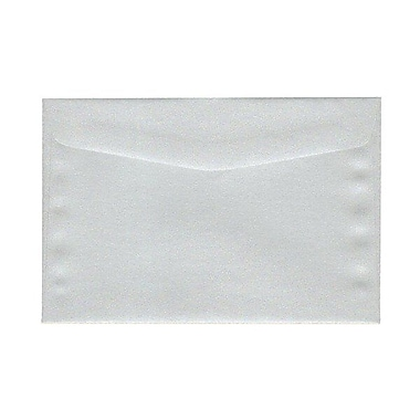 JAM Paper® 6 x 9 Booklet Envelopes, Stardream Metallic Silver Pearlized, 25/Pack (183953)