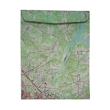 JAM Paper® 10 x 13 Open End Catalog Envelopes, Made with Real Surplus Map, 10/pack (163733D)