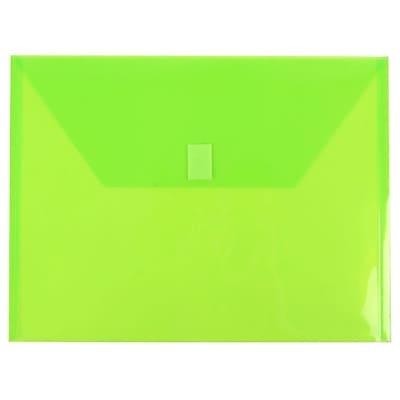 JAM Paper® Plastic Envelopes with Hook & Loop Closure, Letter Booklet, 9.75