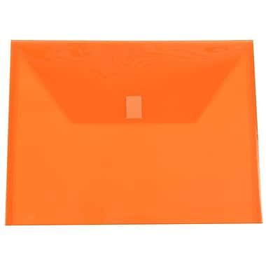 JAM Paper® Plastic Envelopes with VELCRO® Brand Closure, Letter Booklet, 9.75 x 13, Orange Poly, 12/pack (218V0OR)