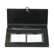 Jam PaperMD – Classeur expansible format chéquier à 13 pochettes, 5 x 10,5 po, noir, 24/paquet
