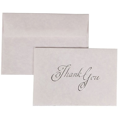 JAM Paper® Thank You Cards Set, Lavender Marbled with Matching Envelope, 104 Note Cards with 100 Envelopes (52615800)