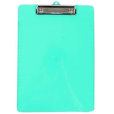 JAM Paper® Plastic Clipboards, 9 x 13, Green, 12/Pack (340926880A)