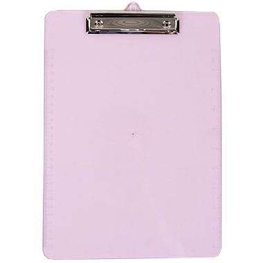 JAM Paper® Plastic Clipboards, 9 x 13, Purple, 12/Pack (340926881A)