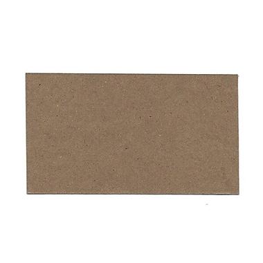 JAM Paper® Blank Note Cards, 3drug size, 2 x 3.5, Brown Kraft, 100/pack (217512693)