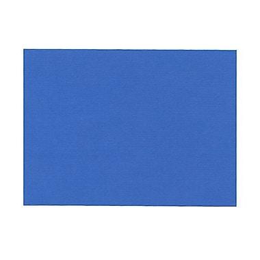 JAM PaperMD – Cartes mémo vierges, 4,62 x 6,25 po, bleu fini lin, 100/paquet