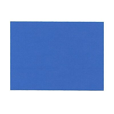 JAM Paper® Blank Note Cards, A6 size, 4 5/8 x 6 1/4, Blue Linen, 100/pack (175988)