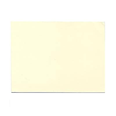 JAM Paper® Blank Note Cards, A6 size, 4 5/8 x 6 1/4, Ecru Ivory, 100/pack (175989)