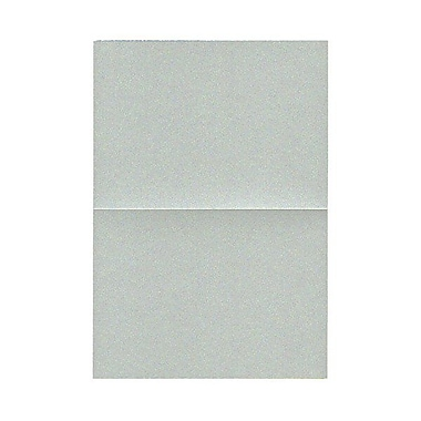 JAM Paper® Blank Foldover Cards, 4bar / A1 size, 3 1/2 x 4 7/8, Stardream Metallic Silver, 50/pack (59327424)