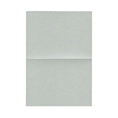 JAM Paper® Blank Foldover Cards, 4bar / A1 size, 3.5 x 4.88, Stardream Metallic Pearl Juniper, 50/Pack (69321447)