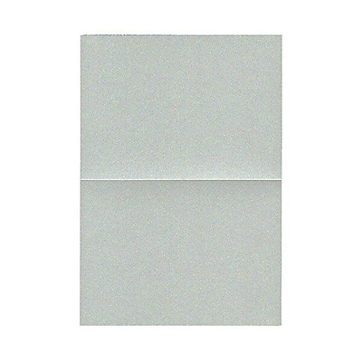 JAM Paper® Blank Foldover Cards, 4bar / A1 size, 3 1/2 x 4 7/8, Stardream Metallic Pearl Juniper, 50/pack (69321447)