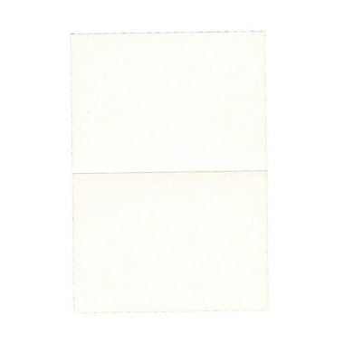 JAM PaperMD – Cartes rabattables, fini métallique Stardream, blanc, 3,5 x 4,87 po, 50/paquet