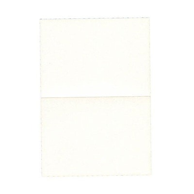 JAM Paper® Blank Foldover Cards, 4bar / A1 size, 3 1/2 x 4 7/8, Stardream Metallic Pearl White, 50/pack (69321445)