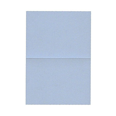 JAM Paper® Blank Foldover Cards, 4bar / A1 size, 3.5 x 4.88, Stardream Metallic Blue Pearl, 50/Pack (69321453)