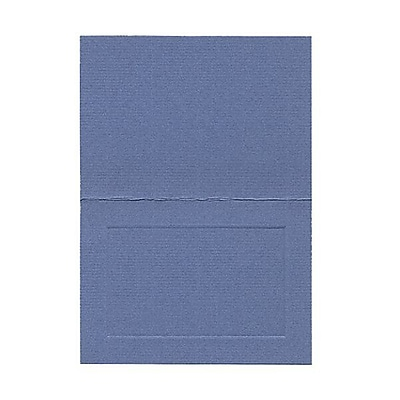 JAM Paper® Blank Foldover Cards, 4bar / A1 size, 3 1/2 x 4 7/8, Blue Laid Panel, 100/pack (309893)